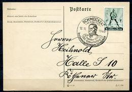 """German Empires1940 Bedarfspostkarte Mit Mi.Nr.745 U.SST""""Schmückert-150.Geb.des Generalpostdirektors Schmückert""""1 Karte - Deutschland"""