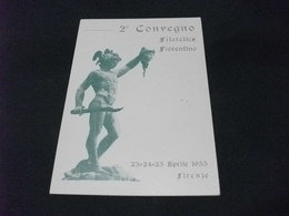 2° CONVEGNO FILATELICO FIORENTINO STATUA 1955 - Borse E Saloni Del Collezionismo