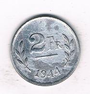 2 FRANC 1944 BELGIE /1549/ - 1934-1945: Leopold III