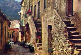 Marciana - Via Appiani - Isola D'elba - Formato Grande Viaggiata – E 10 - Livorno