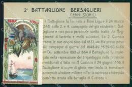 Militari 2° Battaglione Bersaglieri Novi Ligure Caprera Cartolina XB7135 - Reggimenti