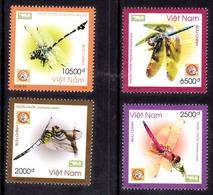 Vietnam Dragonflies Set Of 4 Mint NH VF - Vietnam