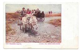 The Wedding Party 1906 Horse Carriage New York Sunday American Journal Examiner Postcard - Advertising