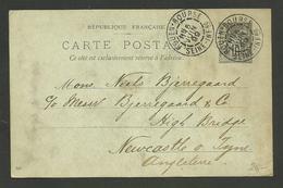 "Cachet "" ROUEN BOURSE "" 05.06.1899 / Entier 10c Sage >>> ANGLETERRE - 1877-1920: Semi-moderne Periode"