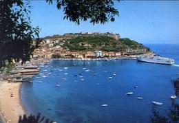 Porto Azzurro - Panorama E Il Porto -  Isola D'elba - 188 - Formato Grande Viaggiata – E 10 - Livorno