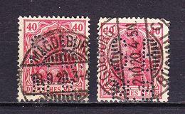Germania, Perfin Firmenlochung, SBMB: Schaeffler & Budenberfg Magdeburg-Buckau, Entwertet 1920 (69868) - Deutschland