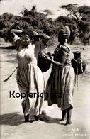 ALTE POSTKARTE AROUSSI ETHIOPIA WOMEN CARRYING WATER TYPES Tracht Traditional Costume Folklorique Postcard Ansichtskarte - Äthiopien