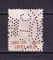 Irland, Fiskalmarke, Landkommision, Perfin Lochung, ILC (69870) - Gebührenstempel, Impoststempel