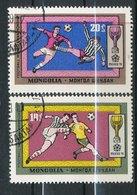 N° Yv 524/525 - Coupe Du Monde De Football Mexico - Mongolie