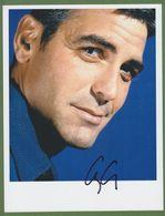 GEORGE CLOONEY AUTOGRAPHE / AUTOGRAMM  Photo 20/26 Cm - Autographs