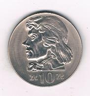 10 ZLOTY 1972 POLEN /1560/ - Pologne