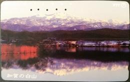 Telefonkarte Japan - Berglandschaft - Spiegelung - 311-118 - Japan