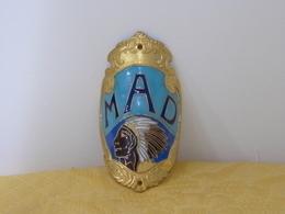 """Plaque Vélo Cyclo """"MAD"""" émaillée - Reklameschilder"""