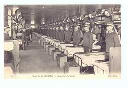 78 Ecole De Saint Cyr Cpa Carte Animée Soldat Militaire Edit ND N°14 Inspection Du Matin - St. Cyr L'Ecole