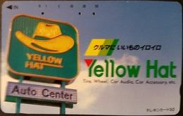 Telefonkarte Japan - Werbung - Yellow Hat - Auto Center - 110-011 - Japan