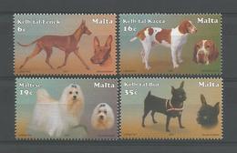 Malta 2001 Dogs Y.T. 1169/1172 ** - Malte