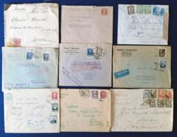 Spagna 31 Letter + 12 Postal Cards VF/F - 1931-50 Storia Postale