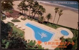 Telefonkarte Japan - Werbung - Pool - Strand , Beach  - 290-27010 - Japan