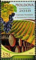 MOLDOVA, 2018, MNH, WINES, WORLD CAPITAL OF WINE TOURISM, GRAPES, 1v - Wines & Alcohols