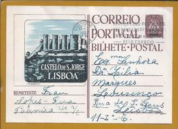 Postal Stationery Com Sobrecarga, Castelo De S. Jorge, Lisboa. Obliteração 'Serviço Fono-postal..' Arquitectura. Caravel - Postal Stationery