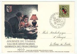 Suisse /Schweiz/Svizzera/Switzerland // Journée Du Timbre // 1953 // Carte De La Journée Du Timbre Genève - Giornata Del Francobollo