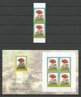 Latvija 2008 Mushrooms Y.T. 714a Pair + C 714a ** - Lettonie