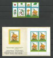 Latvija 2007 Berries & Mushrooms Y.T. 684/685 + C 685a ** - Lettonie