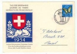 Suisse /Schweiz/Svizzera/Switzerland // Journée Du Timbre // 1954 // Carte De La Journée Du Timbre Luzern - Giornata Del Francobollo