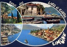 Saluti Da Limone - Lago Di Garda - 2193 - Formato Grande Viaggiata Mancante Di Affrancatura – E 10 - Brescia