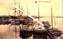 GAND - Le Nouveau Port - (avec Plusieurs Péniches Et Voilier à Quai - Gent