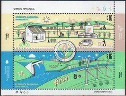 ARGENTINA , 2018, MNH,RENEWABLE ENERGY, WIND ENERGY, DMAS, BICYCLES, ELECTRIVITY, CARS, TRACTORS, SHEETLET - Eau
