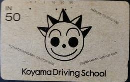 Telefonkarte Japan - Werbung - Fahrschule - 110-011 - Japan