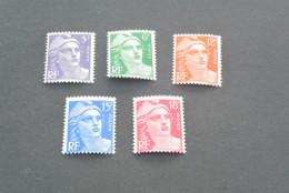 K19078- Set MNH France 1951 - SC. 650-654 - Marianne - 1945-54 Marianne De Gandon