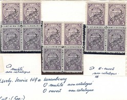 1907: 3 Blocs à 4: 5c Violet Neuf Sans Charnière, Variétés, Abarten, Voir Commentaires, Michel: 88 - 1907-24 Wapenschild