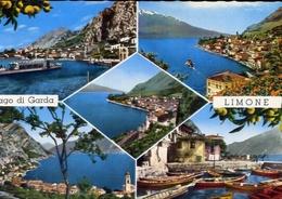 Limone - Lago Di Garda - 2160 - Formato Grande Viaggiata Mancante Di Affrancatura – E 10 - Brescia