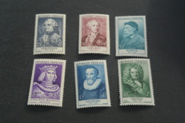 K18964 -set  MNH France 1955 - SC. B294-299 - Portraits - Celebrites - Ongebruikt