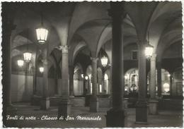 W1332 Forlì - Chiosco Di San Mercuriale - Notte Notturno Night Nuit Nacht Noche / Viaggiata 1958 - Forlì