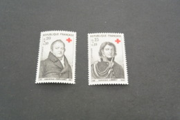 K18993 -set MNH France 1964 - SC. B385-386 - Croix Rouge - Red Cross - Croix-Rouge