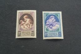 K18925 -set MNH France - 1939 - SC. B90-91 - Natalite - France