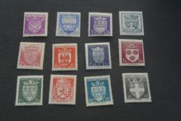 K18932 - Set MNH France 1942 -  SC. B135-146 - Arms Of Various Cities  - - 1941-66 Wapenschilden