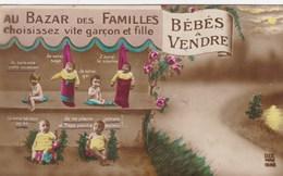 Bébés A Vendre, Au Bazar Des Familles, Baby's For Sale, Choisissez Vite Garçon Et Fille (pk56328) - Scènes & Paysages