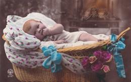 Bébé Dans Un Berceau, Baby In A Basket, Edit NOYER (pk56329) - Portraits