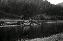 """Photo Originale Bateau Fluvial De Croisière à Vapeur """" Le Riesa """" 1950 - Boats"""