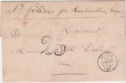 CAD Epinal 1854 / Envoi Village Ste Hélène Près Rambervillers 88 / Cachet Boîte Rurale + Taxe 25 - 1853-1860 Napoléon III