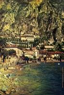 Limone - Sullo Sfondo L'albergo Castell - Lago Di Garda - 6131 - Formato Grande Viaggiata – E 10 - Brescia