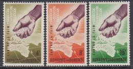 Burundi 1963 - Freedom From Hunger - Mi 48-50 ** MNH - Burundi