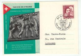Suisse /Schweiz/Svizzera/Switzerland // Journée Du Timbre // 1956 // Carte De La Journée Du Timbre St.Gallen - Giornata Del Francobollo