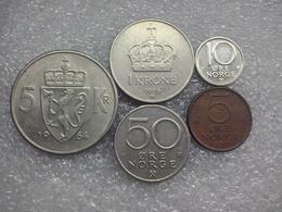 Norway  Coins 5 öre - 5 Kroner - Norvège