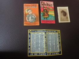 Lot De Petits Calendriers Pub 1928-1925-1929-1928-fil Au Chinois-cirage Lion Noir Ill.beatrice Mallet-le Nil-phoscao - Calendriers