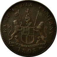 Monnaie, INDIA-BRITISH, MADRAS PRESIDENCY, 5 Cash, 1 Falus, 1803, Soho Mint - India